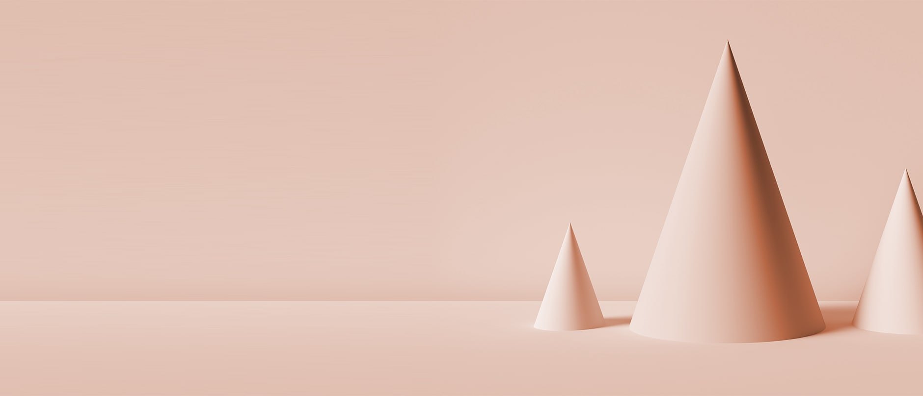 light pink cones on light pink background