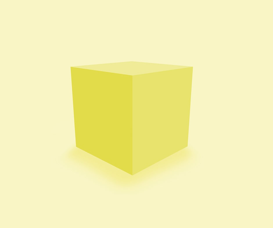 cubo de color amarillo