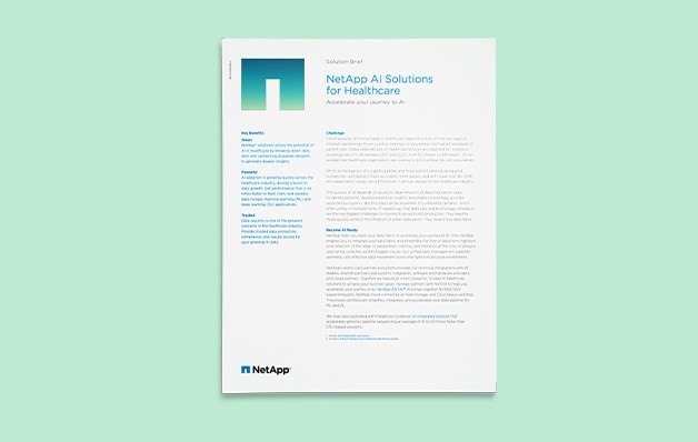 Article intitulé solutions NetApp AI solutions for healthcare