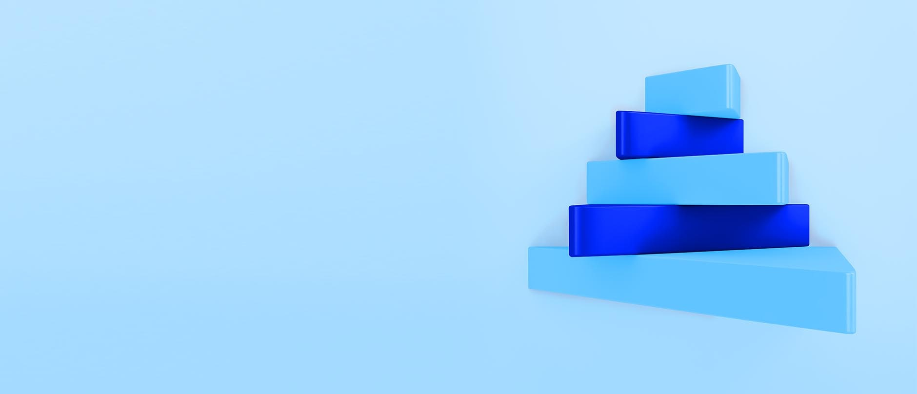 blue triangle object stack