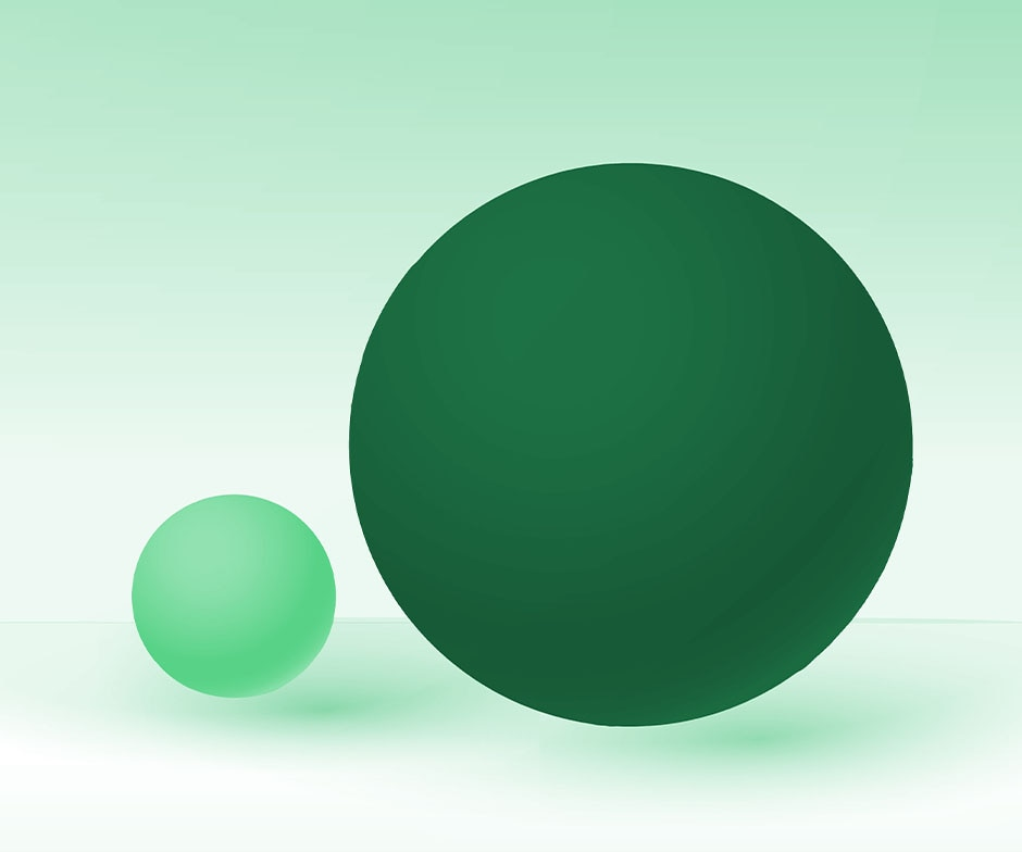 two green balls