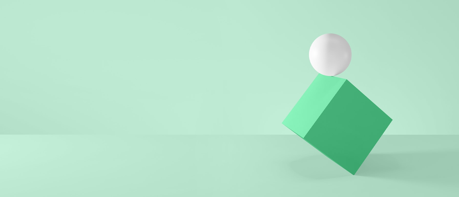 green square and white ball