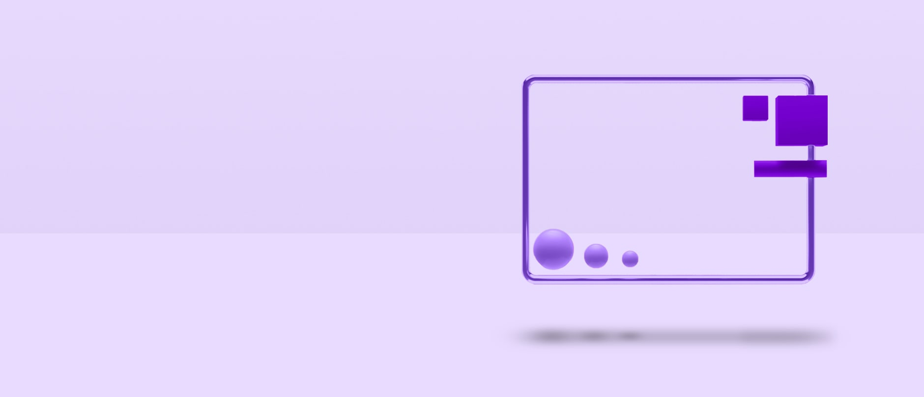 purple shapes floating in air on purple background