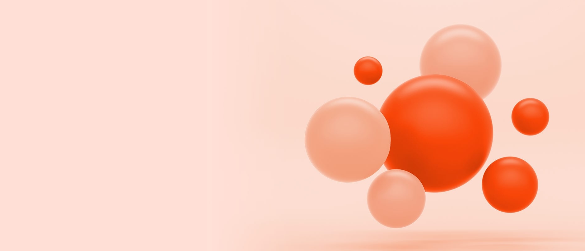 red and pink spheres