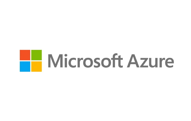 Microsoft logo with the words Microsoft Azure