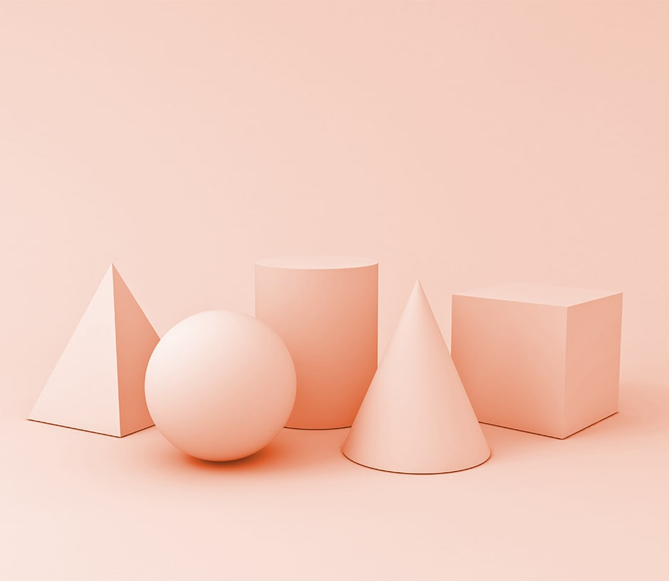 peach geometric shapes on peach background