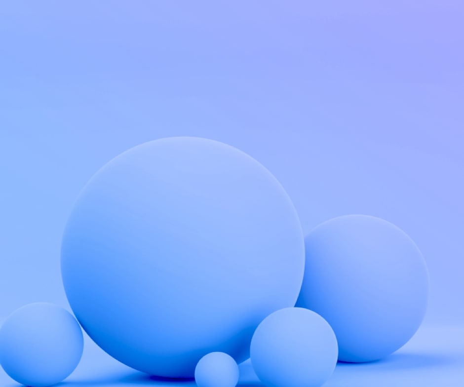 Blue shapes on blue background