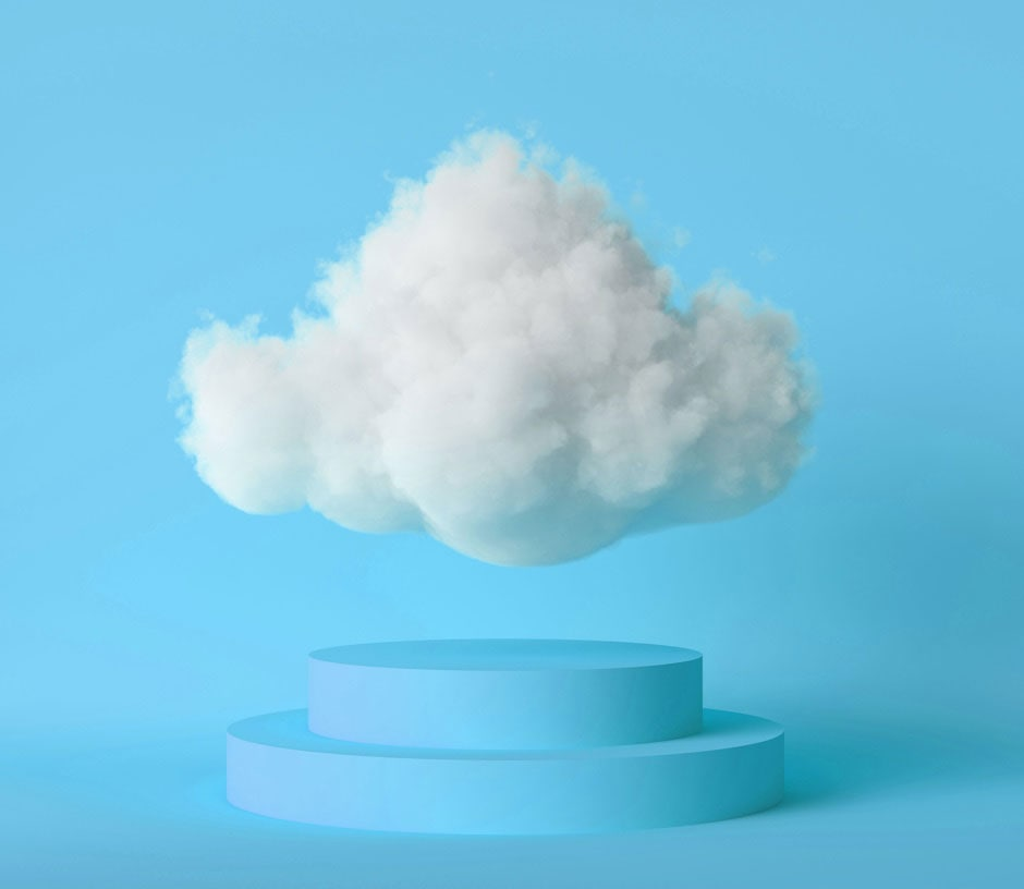 Cloud Floating on Pedestal