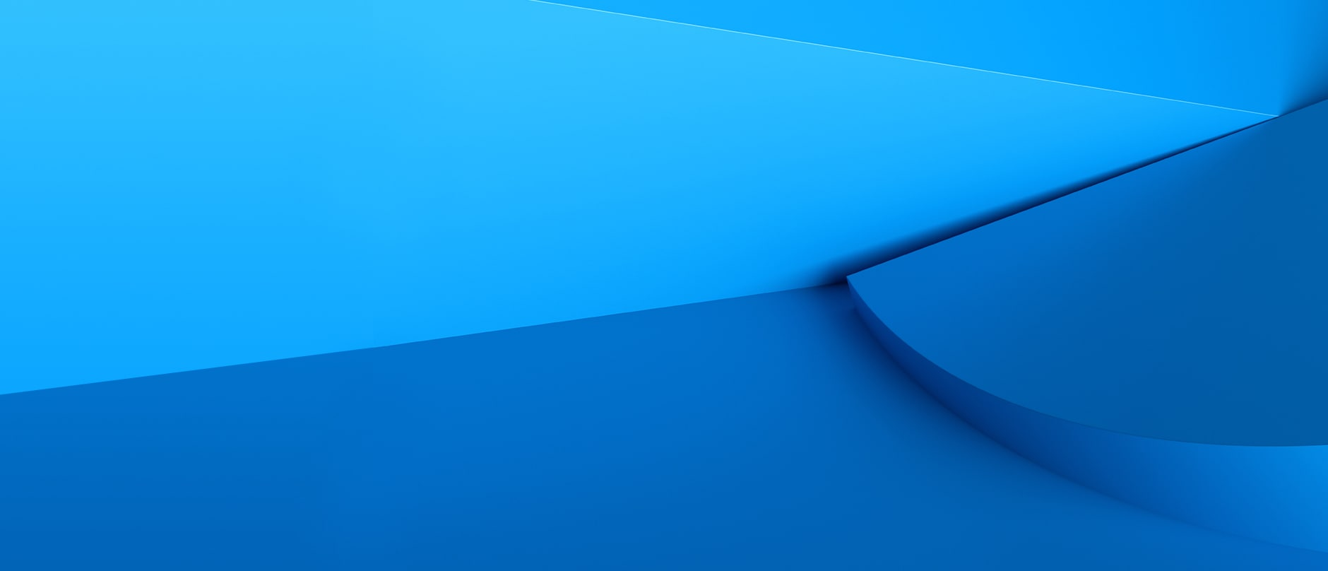 blue slope with a raised lip on two tone background