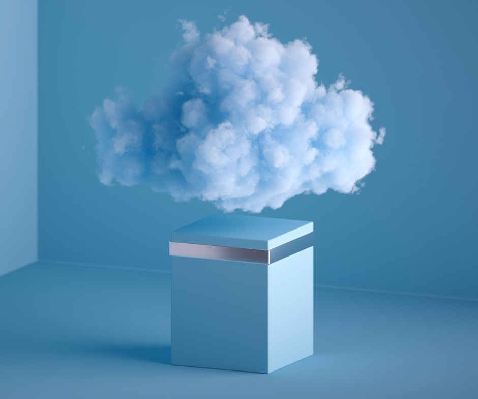 cloud coming out of box