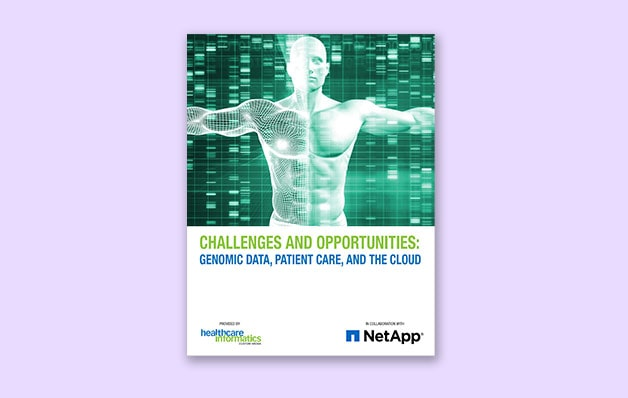 NetApp article with the title challenges and opportunities genomic data patient care and the cloud
