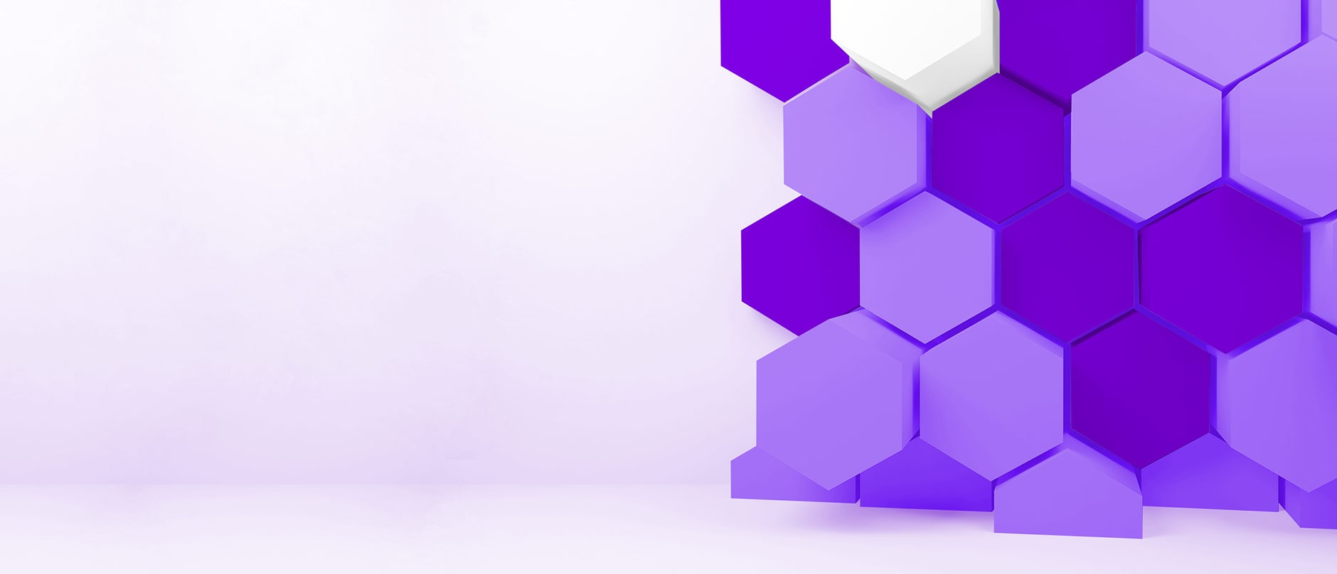 purple and white hexagons