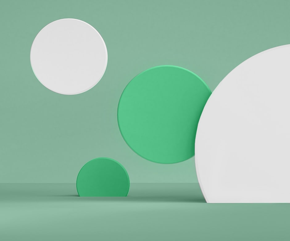 green and white circles