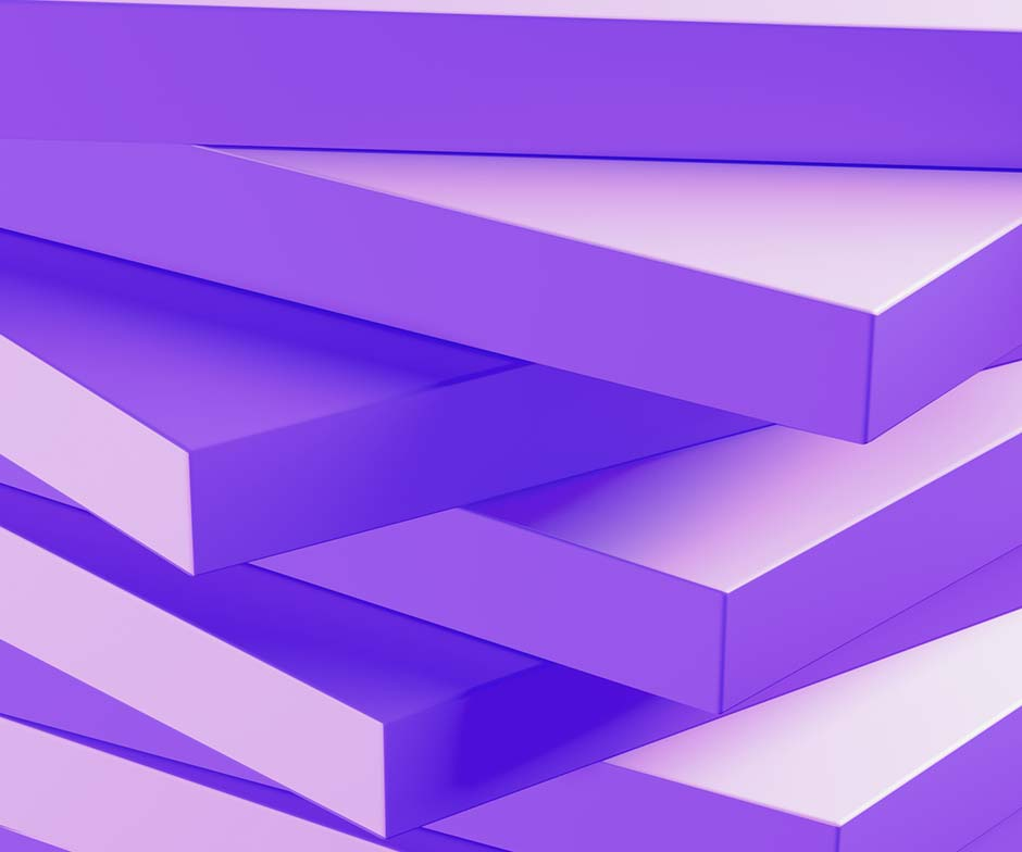 stacked purple tiles