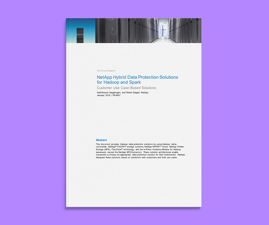 NetApp hybrid data paper on purple background
