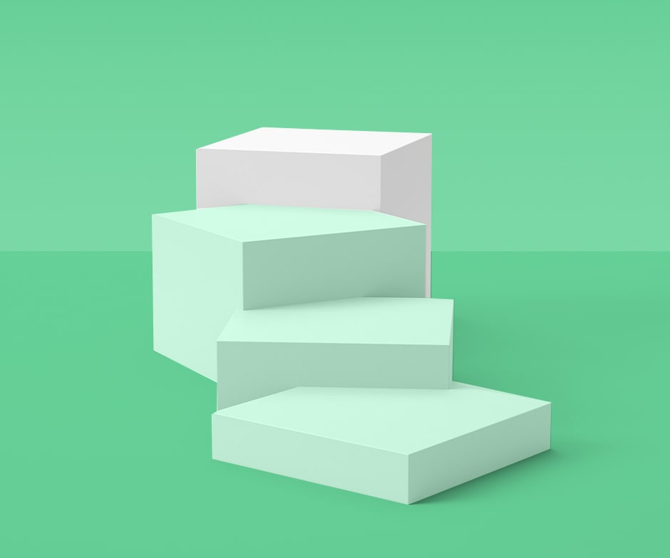 white and green blocks