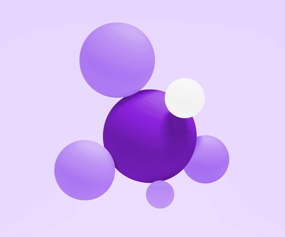 purple and white bubbles