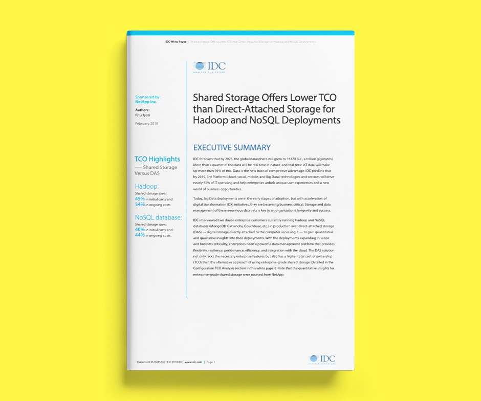 IDC report paper on yellow background