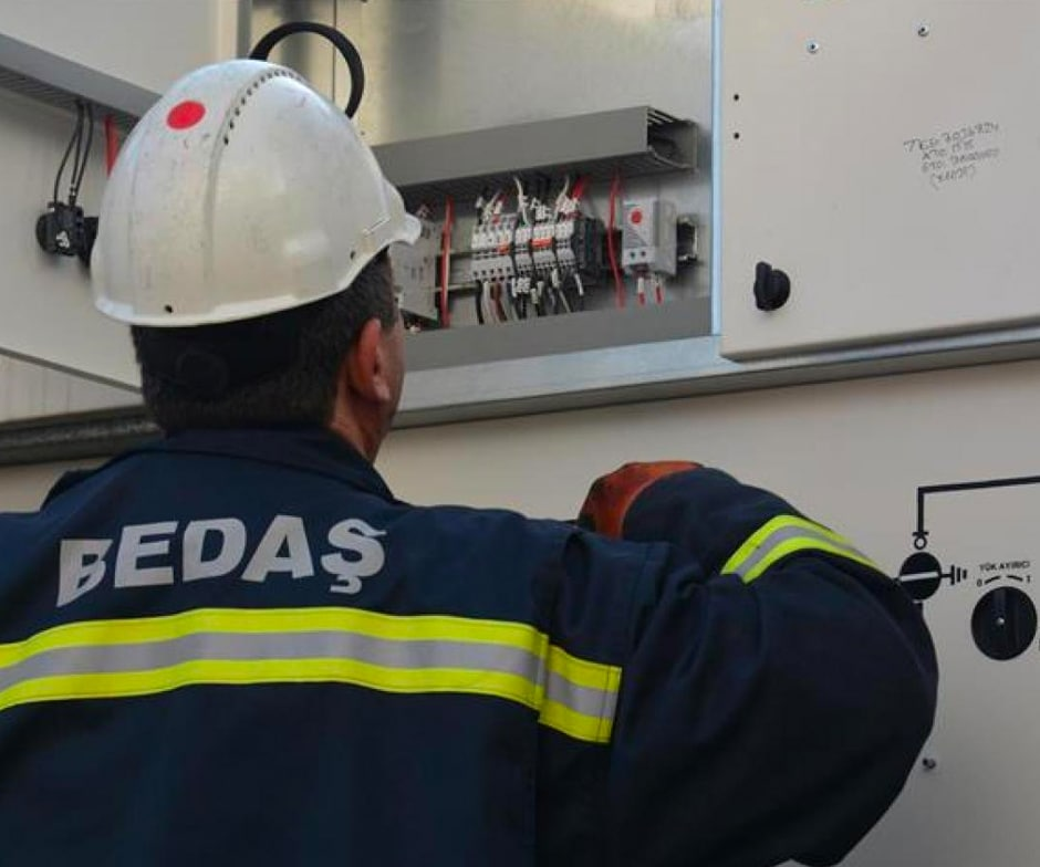 BEDAS worker checking electric wires