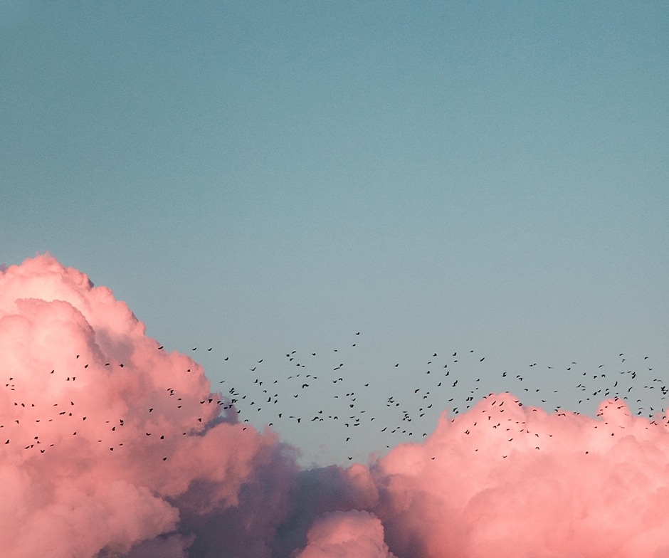 Image of pink clouds