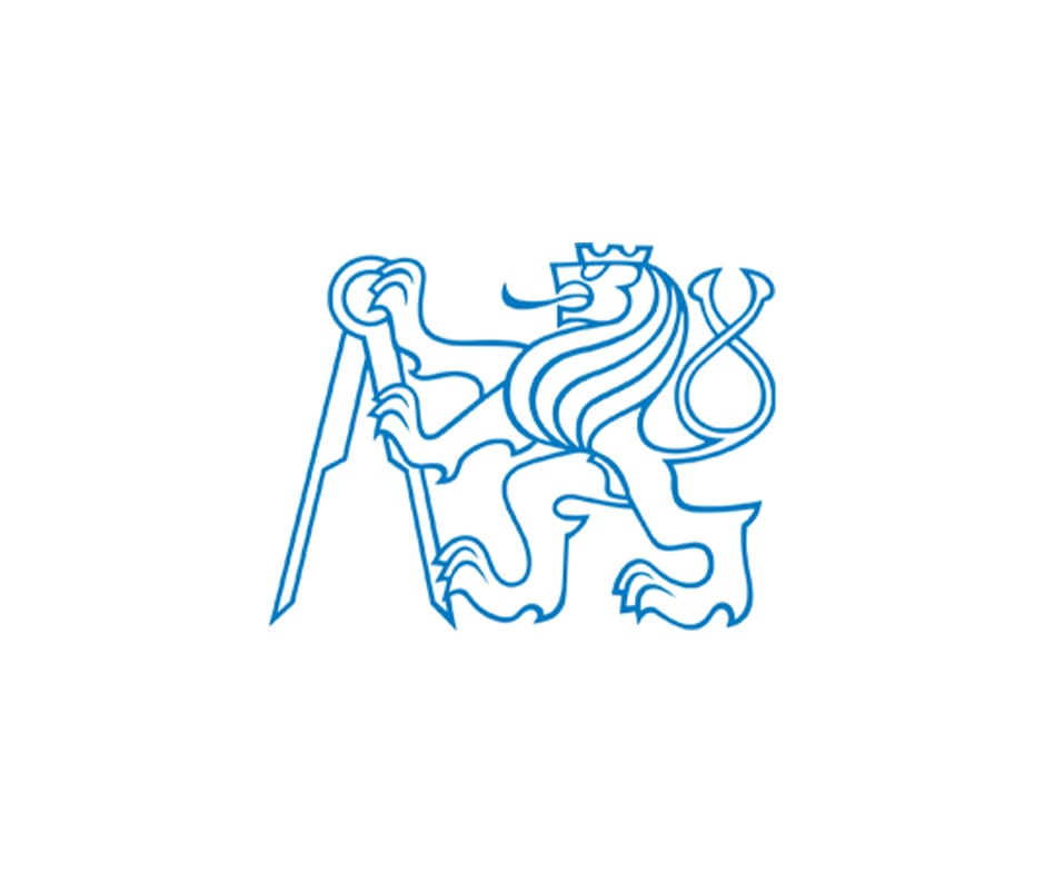 blue outline abstract lion holding compass
