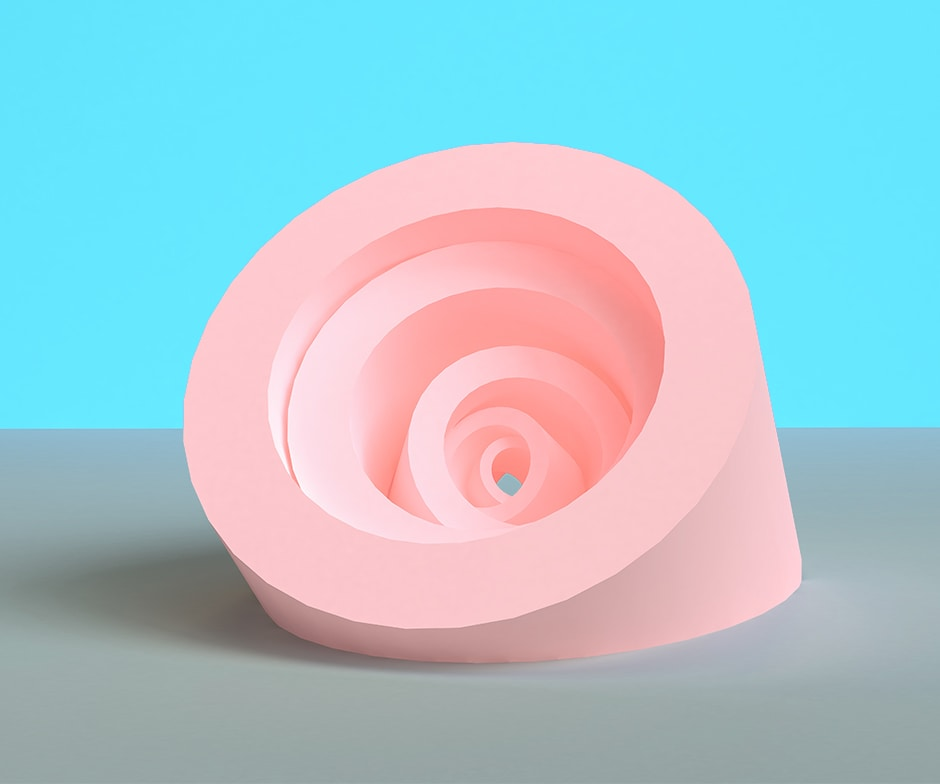 pink multidimensional object