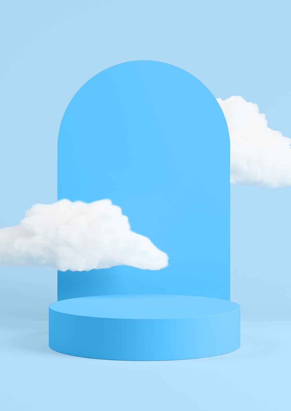 blue arch gate with cloud