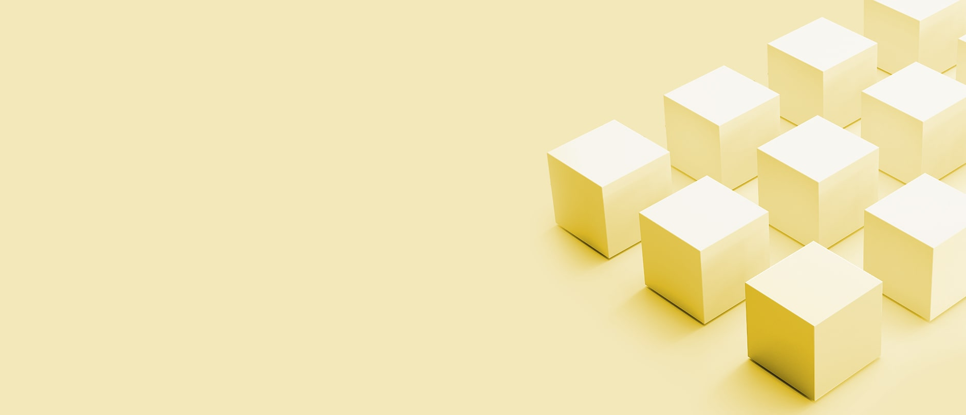 9 yellow cubes on a yellow background