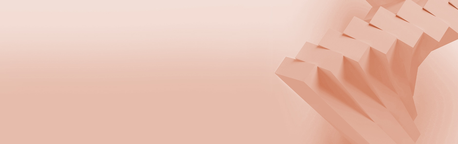 peach background with peach fanned-out rectangular objects