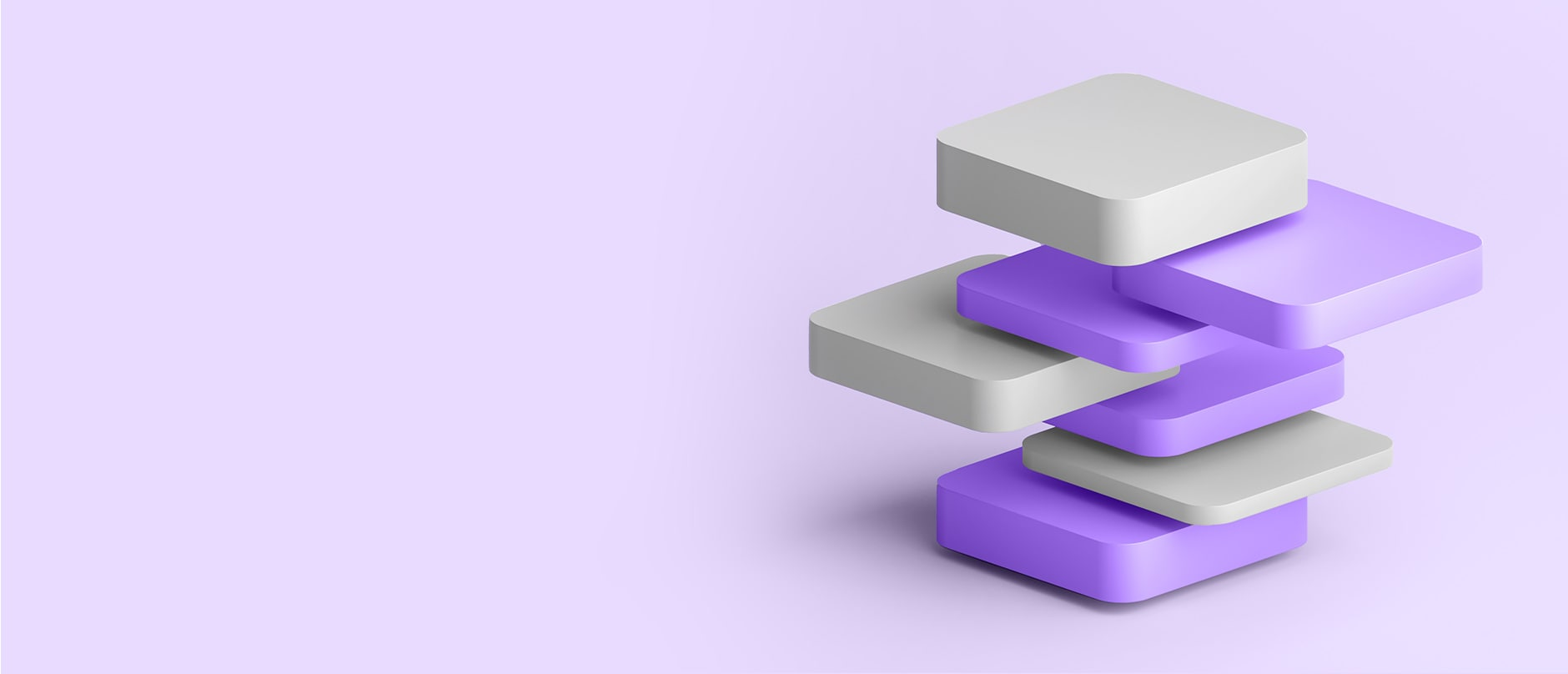stacked white and purple cards
