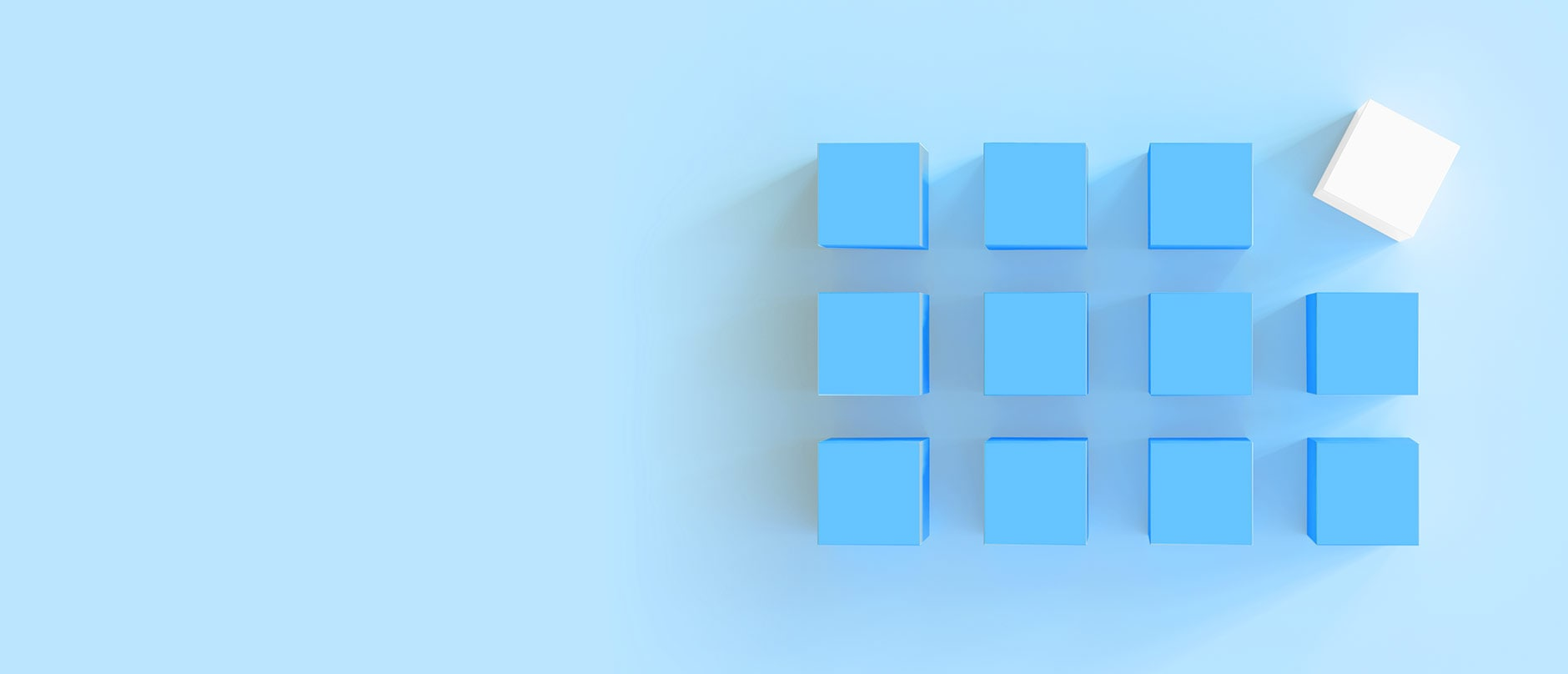 Blue and white blocks