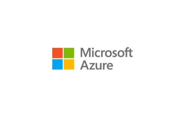 Microsoft logo with the words Microsoft Azure next to it