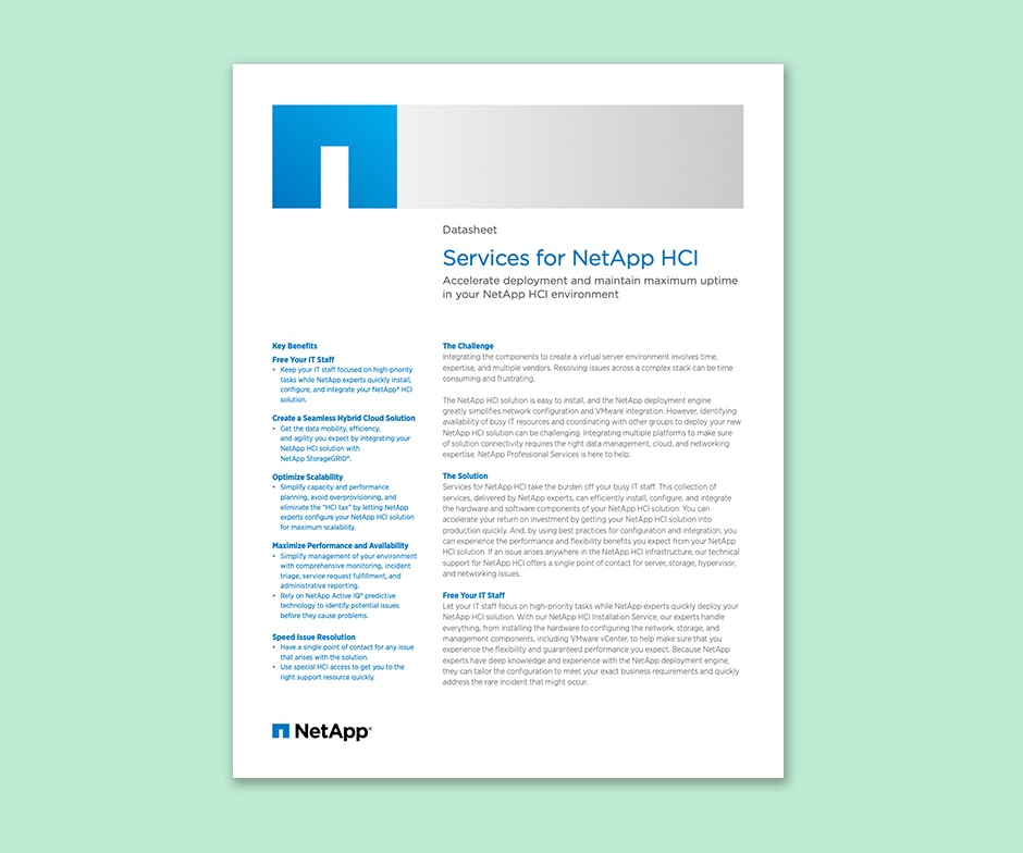 Services for NetApp HCI paper